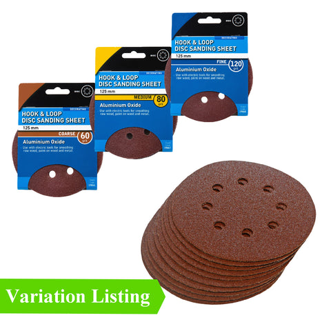 Hook and Loop 125mm Orbital Sanding Discs Velcro Pads