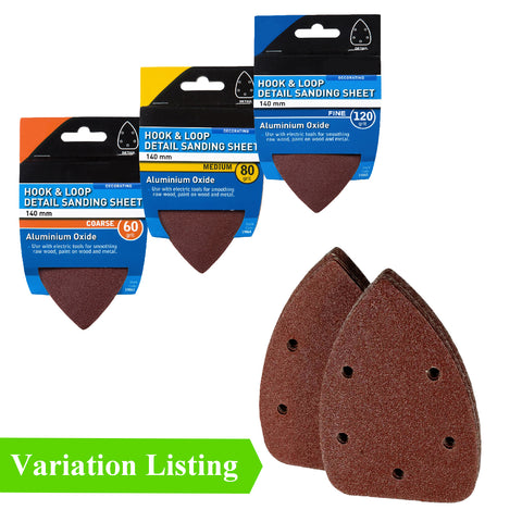 Hook and Loop 140mm Detail Sanding Sheets Velcro Pads<br><br>