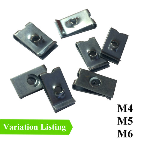 Metric Speed Fastener U Nuts Self Tapping Spire Clips<br>M4, M5 & M6