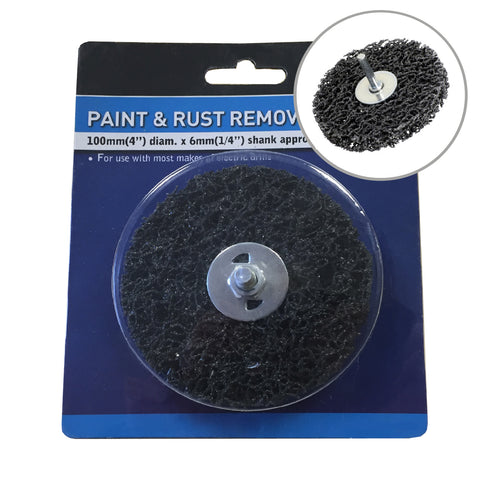 Paint & Rust Remover 4 Inch Drill Attachment Abrasive Wheel