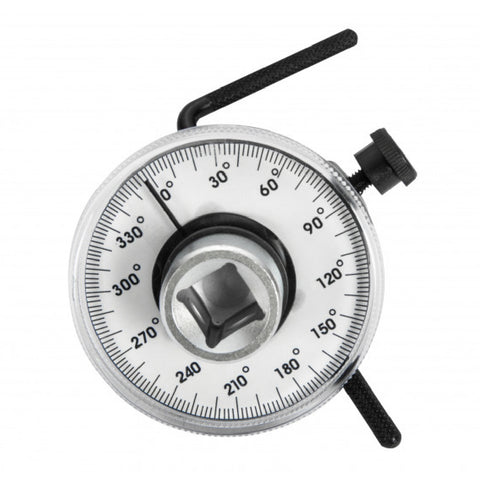 "Torque Angle Gauge, Suitable for use with 1/2"" Ratchets & Power Bars"