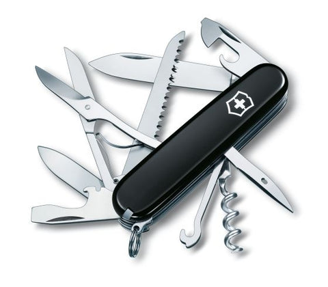 Victorinox Huntsman Black FREE Accessories & Lanyard - Oakedge Knives