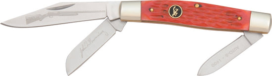 BROWNING RED PICK BONE STOCKMAN - Oakedge Knives