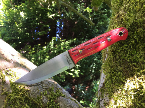 * NEW * Lichfield Mk II Custom Jigged Bone Red - Oakedge Knives