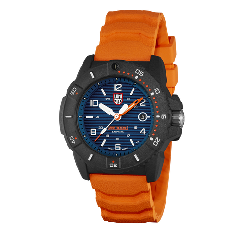 Luminox Navy Seal 3603 Blue Dial Orange Strap