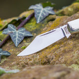 The Barlow Classic Stag Handle Pocket Knife Handmade in UK - Oakedge Knives