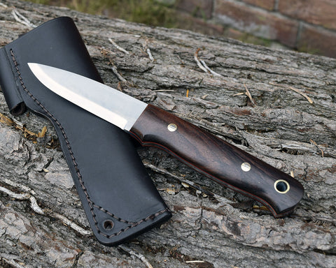 *** SPECIAL OFFER 1 ONLY £114.95 *** The Lichfield Rosewood Handle Bushcraft Knife Handmade in UK