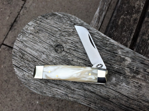 Oakedge Astor Sheepfoot Ivory Pearl Kirinite - Oakedge Knives