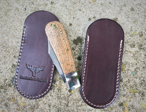 Oakedge Handmade Leather Pocket Slip Dark Chestnut - Oakedge Knives
