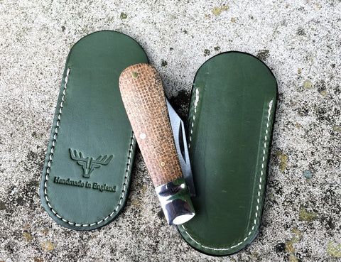 Oakedge Handmade Leather Pocket Slip Green - Oakedge Knives