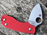Custom Aluminium Scales Spyderco Squeak Red - Oakedge Knives