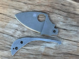 Oakedge Custom Collection Spyderco Squeak Dark Blue Aluminium Scales Acid / Stone Washed - Oakedge Knives