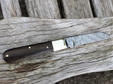 Beautiful Handmade in England Classic Pocket Knife, Damascus Blade, Ancient Bog Oak - Oakedge Knives