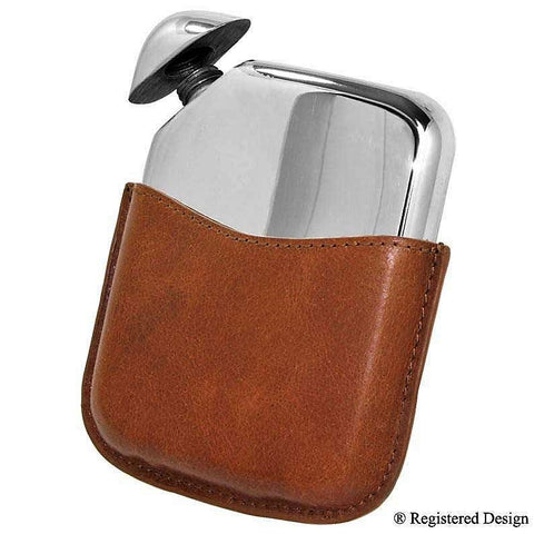 Beautiful 5 1/2oz Individual Contemporary Design Twist on Traditional Pewter Hip Flask Made in England  !!SALE 25% OFF!! - Oakedge Knives