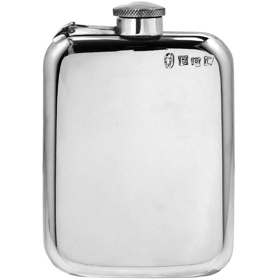Classic 6oz Purse Pewter Hip Flask Captive Top Made in England  !!SALE 25% OFF!! - Oakedge Knives
