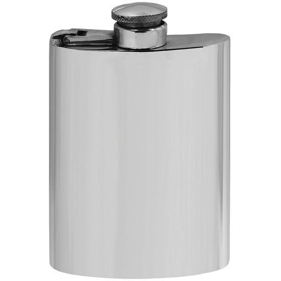 Classic 4oz Pewter Hip Flask Captive Top Made in England  !!SALE 25% OFF!! - Oakedge Knives