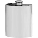 Classic Elegant 6oz Plain Pewter Hip Flask Captive Top Made in England  !!SALE 50% OFF!! - Oakedge Knives