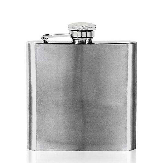 Traditional Stylish 6oz Stainless Steel Captive Top Hip Flask  !!SALE 50% OFF!! - Oakedge Knives