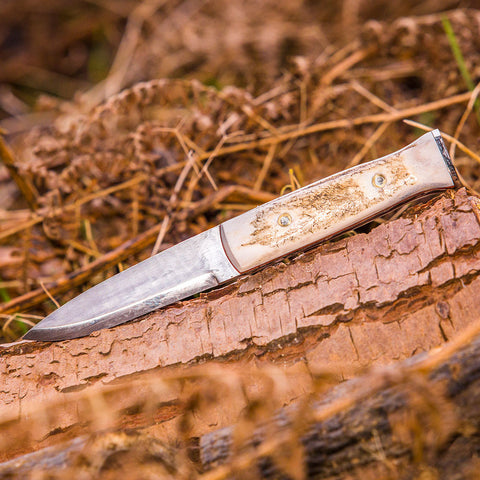 The Shugborough Stag Handle Bushcraft Knife Made in UK - Oakedge Knives