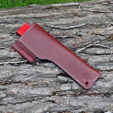 Oakedge Leather & Suede Knife Sheath Brown / Red