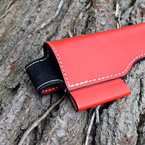 Oakedge Leather & Suede Knife Sheath Red / Black