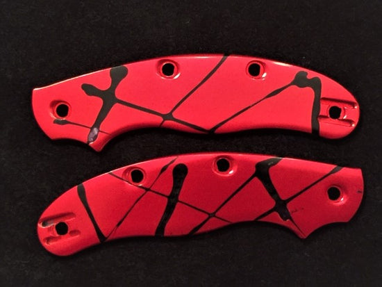 FACTORY CLEARANCE OFFER Custom Spyderco Aluminium Anodised Splash Scales 4 Pin (2) - Oakedge Knives