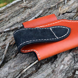Oakedge Leather & Suede Knife Sheath Tan / Black - Oakedge Knives
