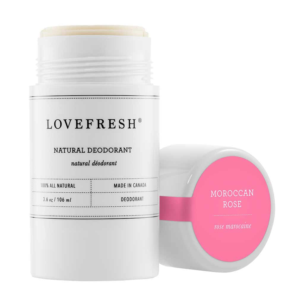 Lovefresh Natural Cream Deodorant, Moroccan Rose Absolute