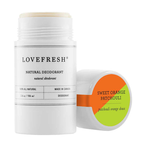 Lovefresh Natural Cream Deodorant, Sweet Orange Patchouli