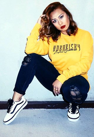 INSPIRE: YELLOW EMBROIDERED SWEATSHIRT