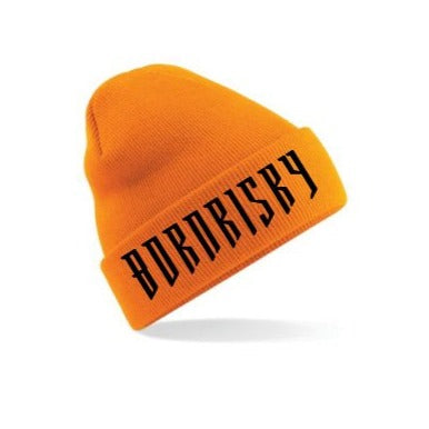 BORN RISKY: BURNT ORANGE BEANIE HAT