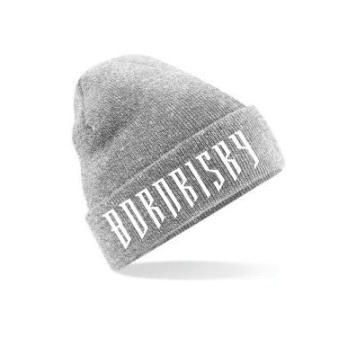 BORN RISKY: HEATHER GREY BEANIE HAT