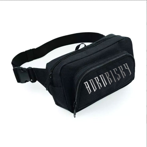 AFTER DARK: BLACK BELT BAG WITH REFLECTIVE PRINT
