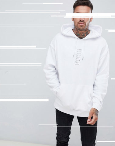 VERTIGO: FRESH WHITE EMBROIDERED HOODIE