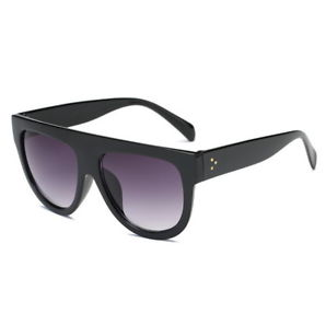 RETRO CHUNKY FRAME SUNGLASSES : BLACK GLOSS