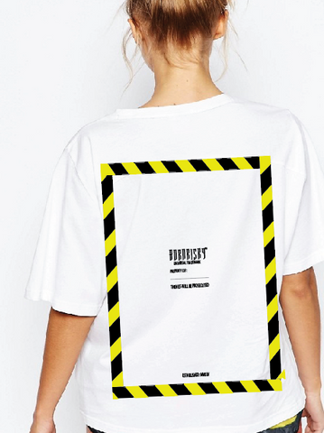 CAUTION T-SHIRT: WHITE