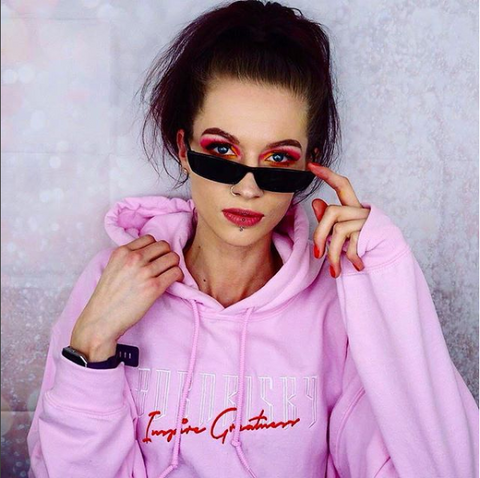 INSPIRE: STRAWBERRY PINK EMBROIDERED HOODIE