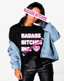 BADASS BITCHES: BLACK PUBLIC ANNOUNCEMENT T-SHIRT