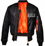 CREW: BLACK BOMBER JACKET
