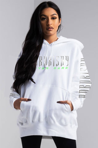 AFTER DARK: WHITE REFLECTIVE HOODIE