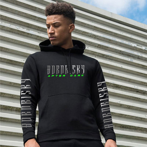 AFTER DARK: BLACK REFLECTIVE HOODIE