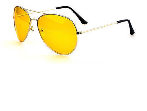 Retro Yellow Tint Glasses w/ Gold Frame