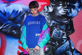 AFTER DARK: ROYAL REFLECTIVE SWEATSHIRT