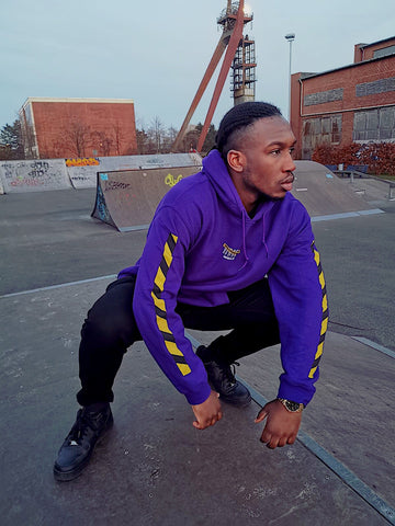 CAUTION HOODIE: PURPLE