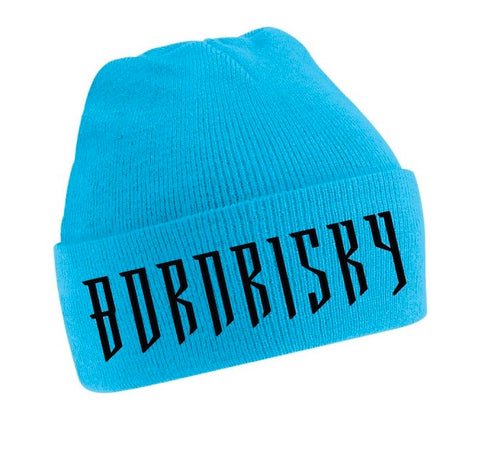 BORN RISKY: TURQUOISE BEANIE HAT