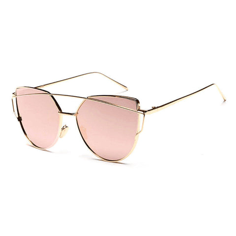 PINK W/ GOLD RETRO SUNGLASSES