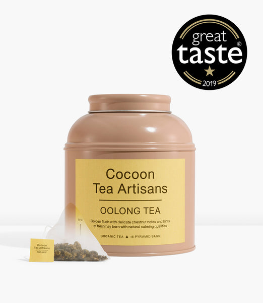 Tea Caddy with 15 Oolong pyramid tea bags