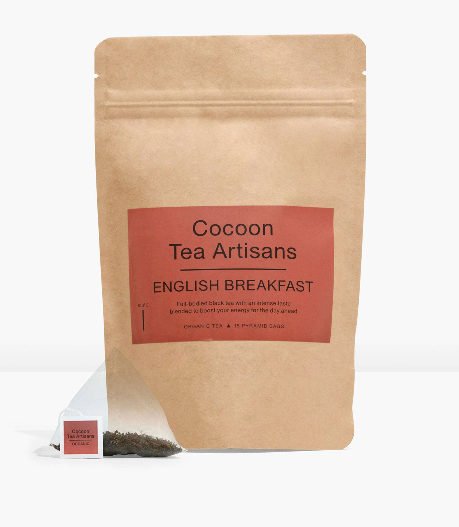 Refill Bag with 15 English Breakfast pyramid tea bags