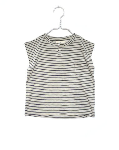 Monsieur Striped Crop Top mit Katze