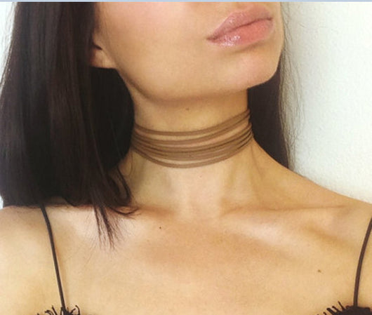 Summer Fashion White Multilayer Lace Tattoo Choker Necklace